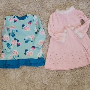 Two Gymboree Size 5 and 5T dresses